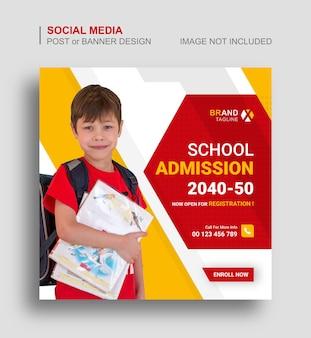 Back to school social media instagram banner design
