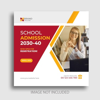 Back to school social media post and banner design
