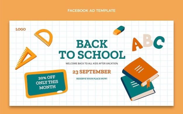 Back to school social media promo template