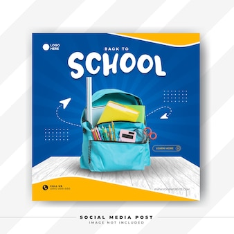 Back to school for social media template