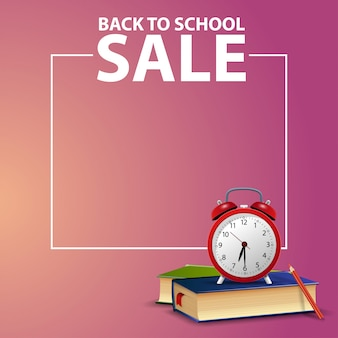 Back to school, square web banner