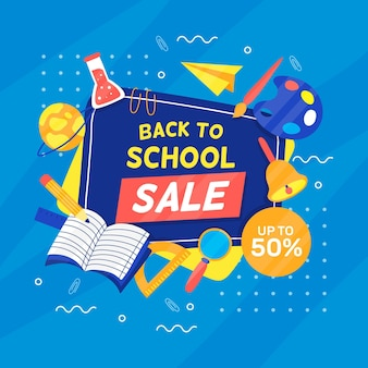 Back to school squared sales banner