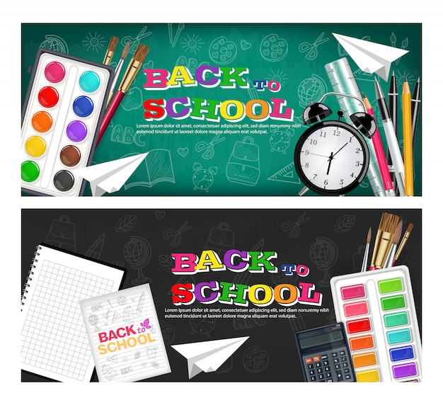 Back to school stationary collection