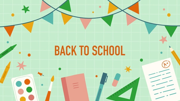 Back to school stationery and school items