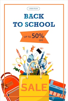Back to school stationery for school university and office cartoon school supplies