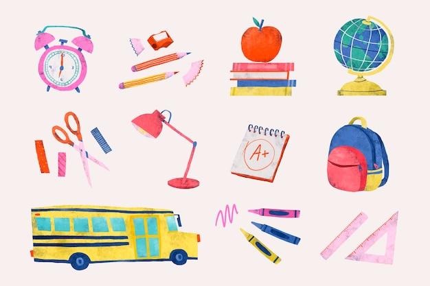 Set di cancelleria per il ritorno a scuola