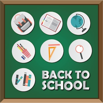 Back to school sticker and board