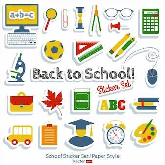 Back to school sticker set