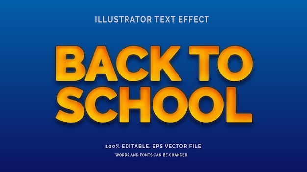 Back to school style editable text effect