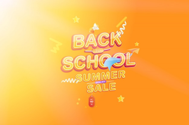 Back to school summer sale