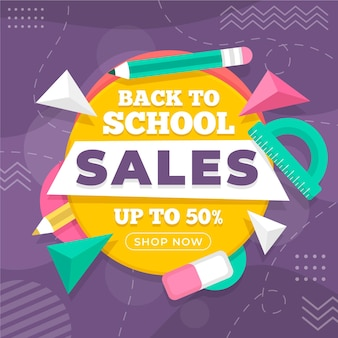 Back to school supplies sales