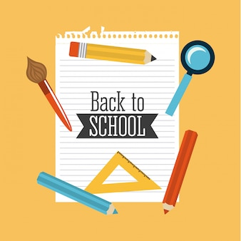 Back to school supplies vector illustration
