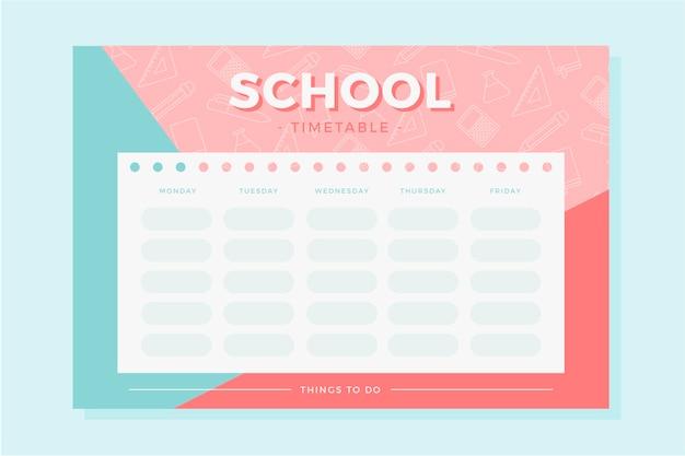 Torna al modello di scuola per l'orario
