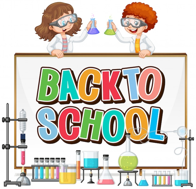 Back to school template with science theme