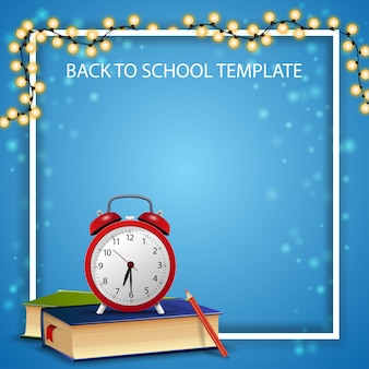 Back to school template for your arts with garland