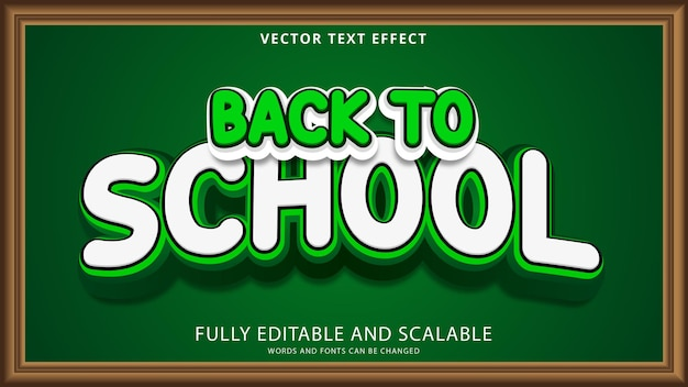 Back to school text effect editable eps file