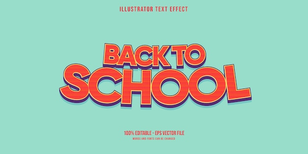 Back to school of text effect