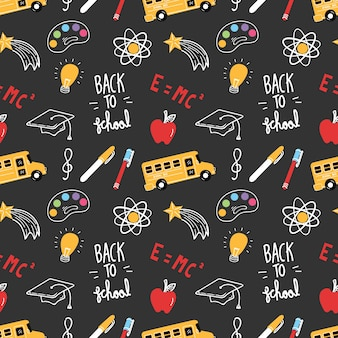 Back to school theme doodle background