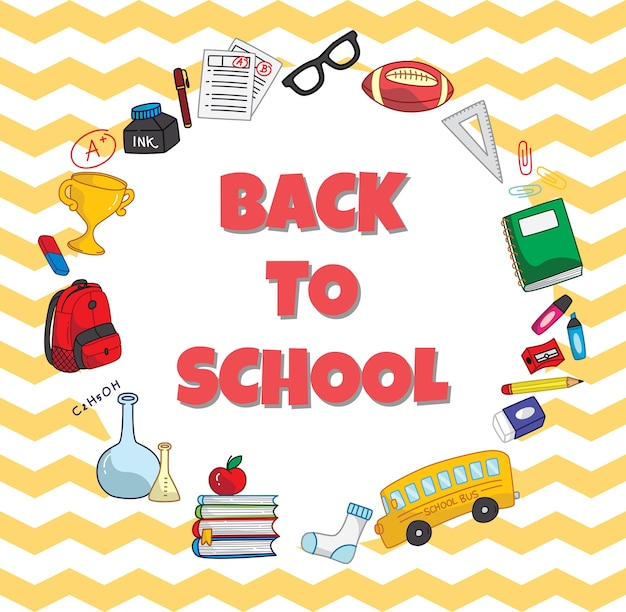 Back to school theme poster template