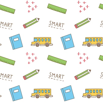 Back to school theme print and pattern