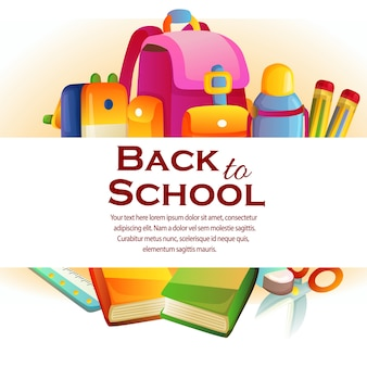 The back to school theme with stationary