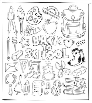 Back to school themed doodle