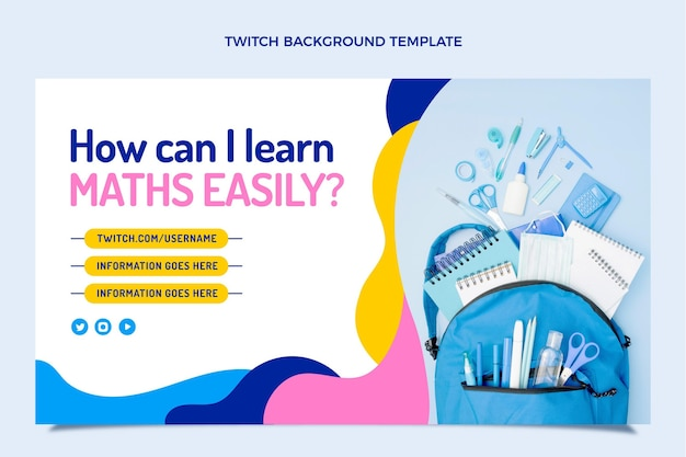 Back to school twitch background