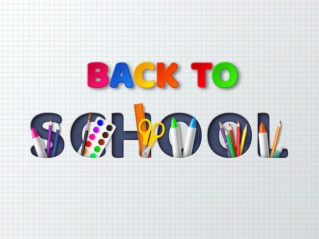 Back to school typography design.
