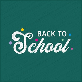 Back to school typography with green background and creative design