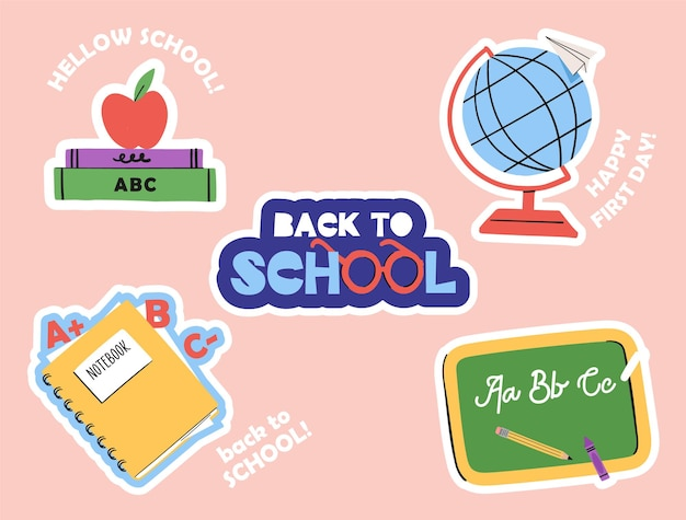 Back to school various tools for education hand drawn big vector set