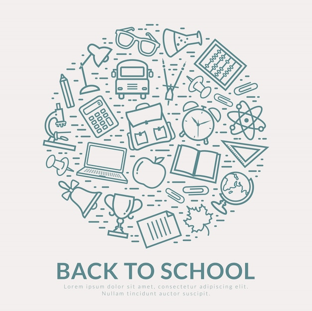 Back to school vector background.