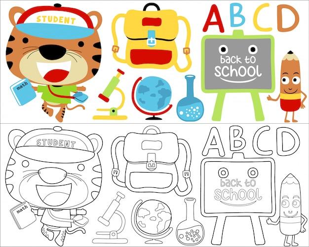 Back to school vector cartoon