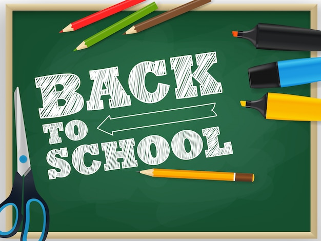 Back to school vector concept