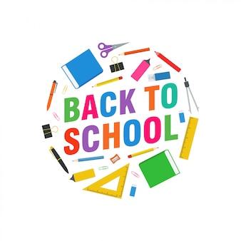 Back to school vector design illustration