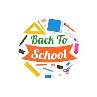 Back to school vector design illustration