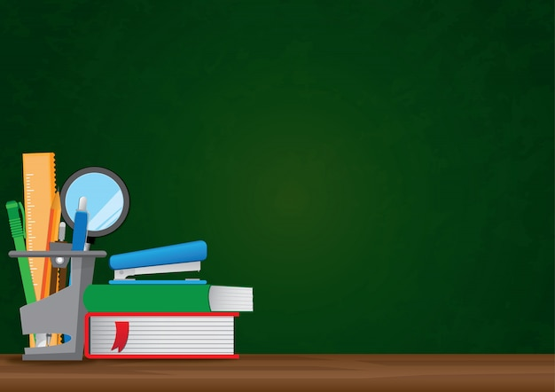 Back to school vector illustration background with copyspace