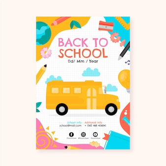 Back to school vertical poster template
