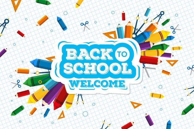 Back to school wallpaper concept