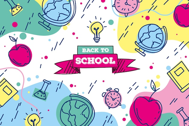 Back to school wallpaper draw theme