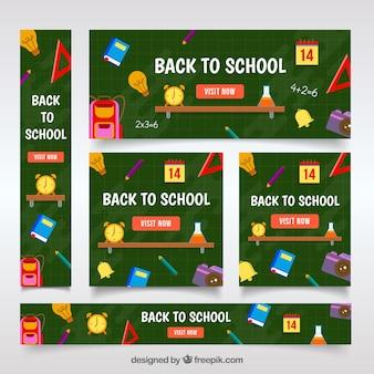 Torna a scuola banner web insieme con elementi