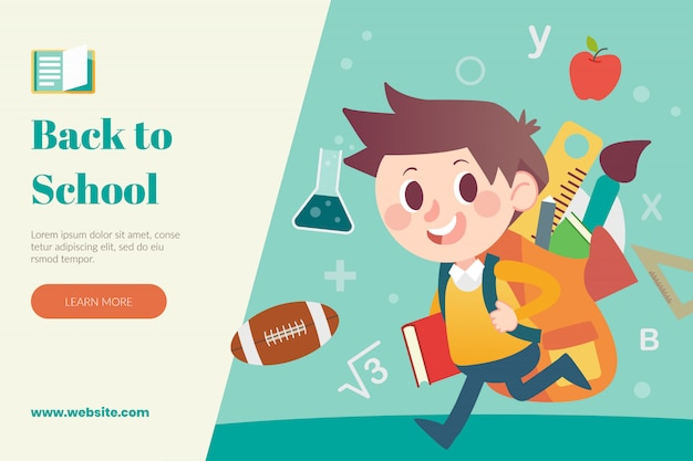 Back to school web layout template