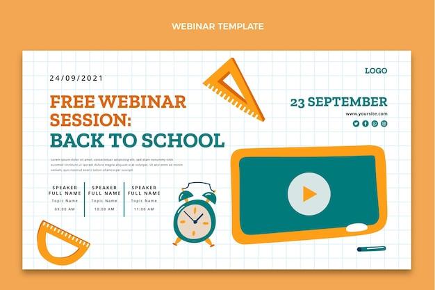 Modello di webinar di ritorno a scuola