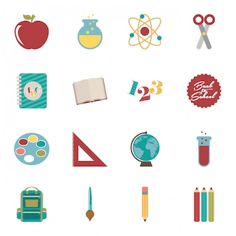 Back to school over white background vector illustration