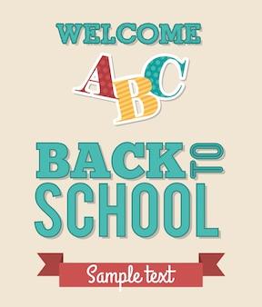 Back to school over white background vector illustration