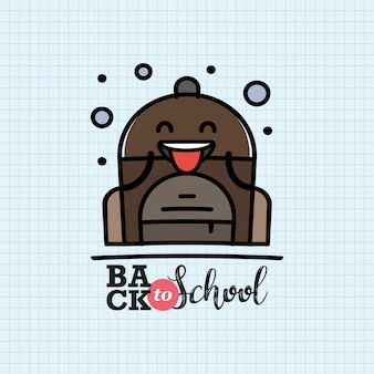 Back to school with backpack character