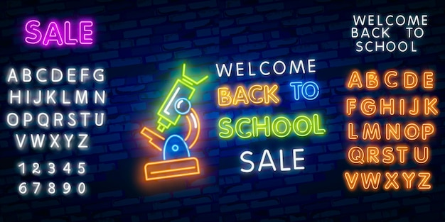 Back to school with neon signs