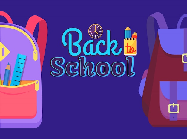 Back to school with schoolchild rucksack