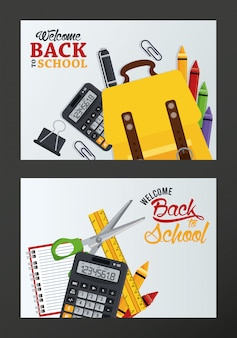 Back to school with set supplies