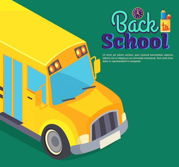 Back to school   with yellow bus