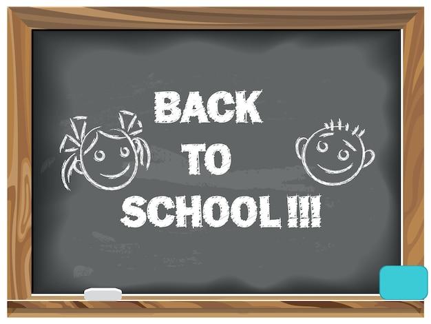 Back to school written chalk on a blackboard
